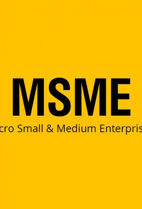 A Written Text That Showing Ministry of Micro, Small and Medium Enterprises That Isolated In Yellow Background.